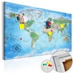 Obraz na korku - Tradycyjna kartografia [Mapa korkowa]